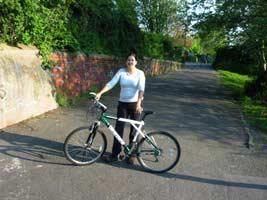 Hanna and her bike