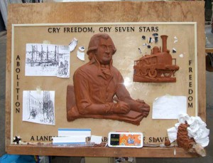 The Seven Stars Plaque in Mike Baker's Workshop.