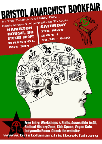 Bristol Anarchist Bookfair 2011 Poster
