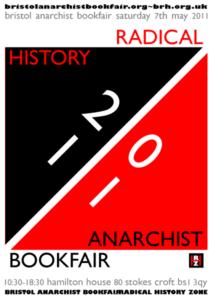 Bristol Anarchist Bookfair Radical History Zone 2011 Poster