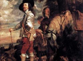 Charles I by Sir Anthony Van Dyck, painted in April 1634