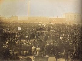A Chartist Meeting on Kennington Common.