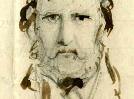 Self Portrait by George Cruikshank, 1858.
