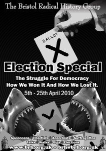 Election Special Shark Poster - B&W