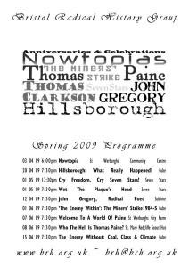 Spring 2009 Programme Poster