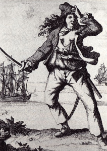 Anne Bonny; from Histories der Engelsche Zee-Roovers, 1725.