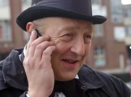Winston Churchill on the phone.