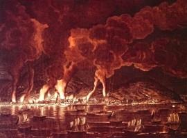 Fire of the Cape Francais in Saint Domingo