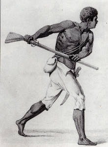 Jamaican Maroon* Captain Leonard Parkinson, 1796. Engraver Abraham Raimbach. From B. Edwards, The Proceedings of the Governor and Assembly of Jamaica, in Regard to the Maroon Negroes - A copy of this book is available in Bristol Central Reference Library.