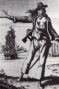 Mary Read; from Histories der Engelsche Zee-Roovers, 1725.
