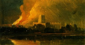 The Burning of the Bishop's Palace, 1831, W. J. Müller