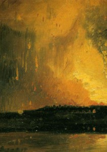 The Burning of the New Gaol from Canon's Marsh, 1831, W. J. Müller