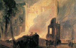 The Burning of the Mansion House, Queen Square, 1831, W. J. Müller