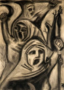 Peasants Revolt. 2008. Charcoal on paper.