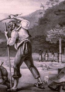 Plantation overseer punishes a slave in Brazil, 1834.