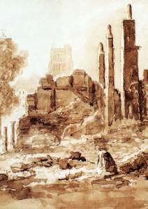 North side of Queen Square, 1832, Rev Eden