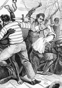 """""""A slave revolt is terrible because one cannot fire on them, since each man is worth at least 1,000 francs"""", 1883, Albert Laporte."""