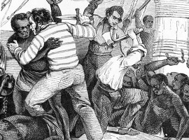 """A slave revolt is terrible because one cannot fire on them, since each man is worth at least 1,000 francs"", 1883, Albert Laporte."