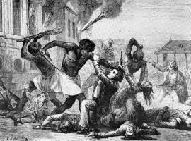 A slave revolt.