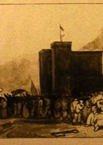 A postcard of the burning of the New Gaol. Courtesy of Bristol Central Reference Library refinfo@bristol.gov.uk