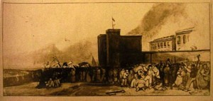 A postcard of the burning of the New Gaol. Courtesy of Bristol Central Reference Library refandinfo@bristol.gov.uk