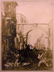 A postcard of the riots. Courtesy of Bristol Central Reference Library refandinfo@bristol.gov.uk