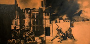 1831 Bristol Jamaica Riots. 2007. Oil on canvas.