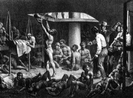 Enslaved Africans in Hold of Slave Ship, 1827