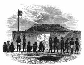 The slave chain, Little Popo, 1849.