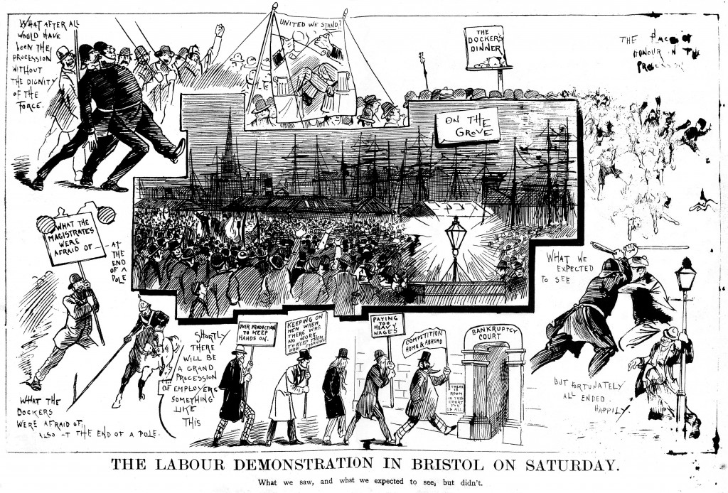 Labour Demonstrations In Bristol On Saturday.