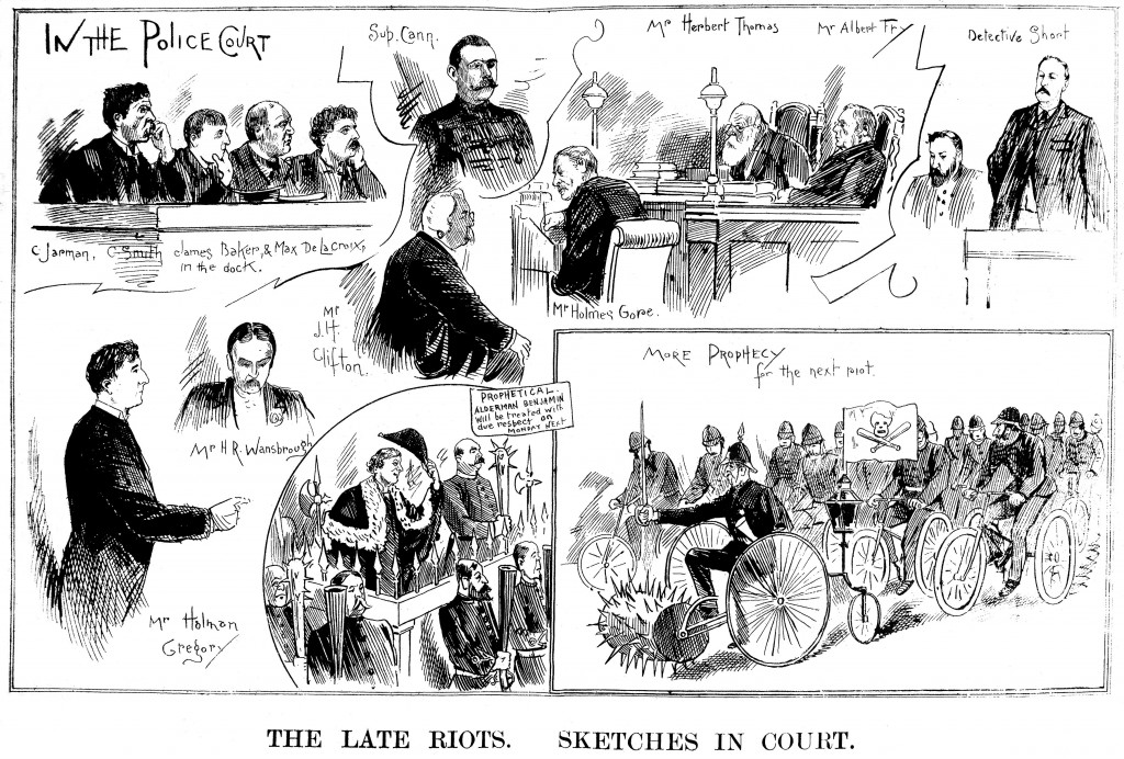 The Late Riots. Sketches In Court.