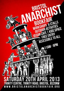 Bristol Anarchist Bookfair 2013 Poster