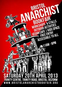 Bristol Anarchist Bookfair 2013 Poster
