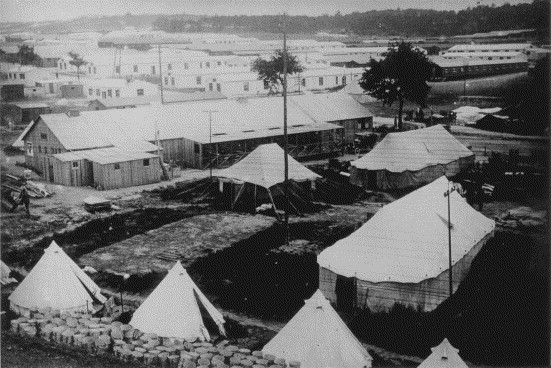 Fig. 3: The British Army Base Camp at Etaples, France showing a hospital section