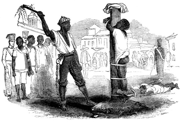 Slaves being flogged in Brasil