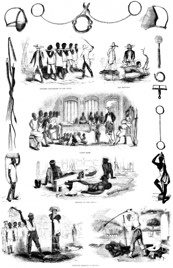 Pictures of slavery and slave punishment