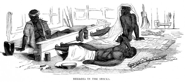 Slaves being puinished in the stocks