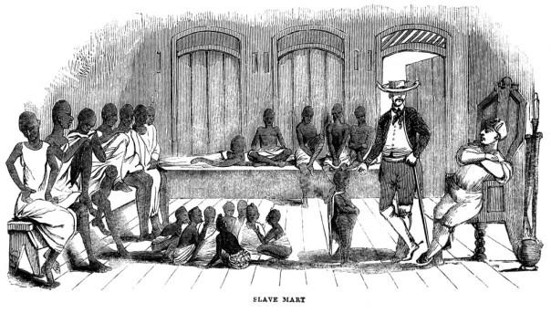 A slave market.