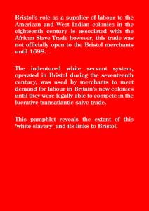 Bristol's White Slave Trade Back Cover