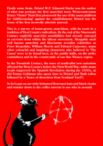 Anarchism in Bristol and the West Country to 1950 Back Cover