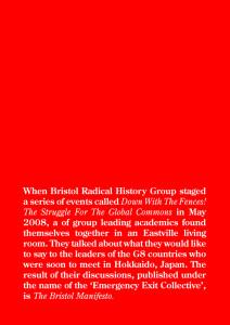 The Bristol Manifesto Back Cover