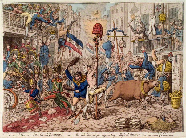 Promis'd horrors of the French invasion, - or - forcible reasons for negotiating a regicide peace