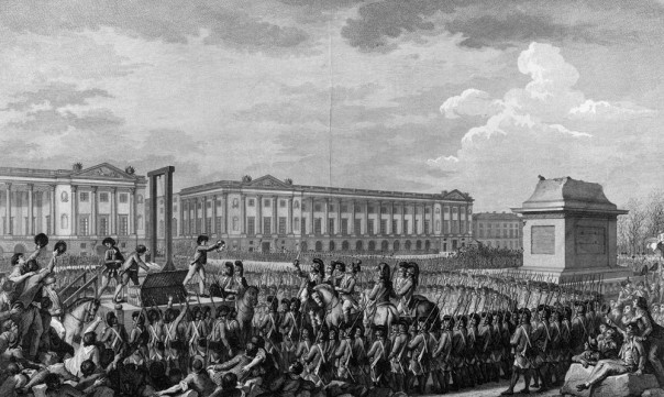 Execution of Louis XVI in what is now the Place de la Concorde