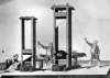 A demonstration of the 'humane' guillotine