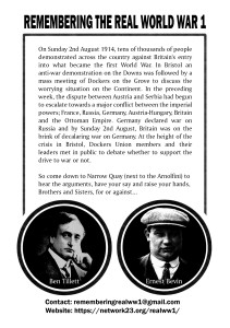 Should Britain Go To War with Germany? Flyer back.