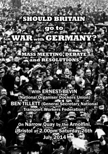 Should Britain Go To War with Germany? Flyer front.