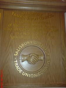 Captain Swing Plaque Salisbury Guild Hall