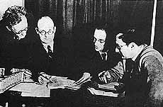 Daily Worker with Allen Hutt, Bill Rust, J R Campbell and Ivor Montagu