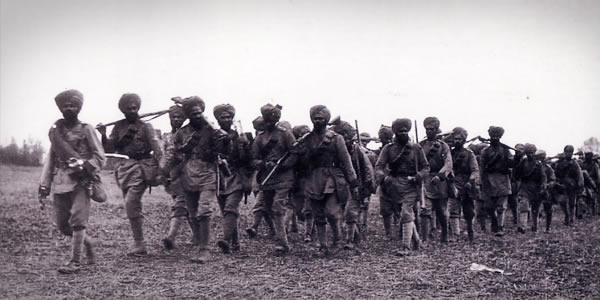 Indian regiment in Flanders 1914