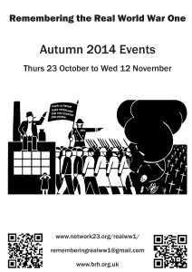 Remembering the Real WW1 – Autumn 2014 Poster